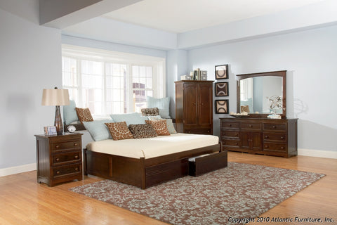 CONCORD PLATFORM BED WITH FLAT PANEL FOOTBOARD
