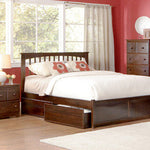 MISSION PLATFORM BED WITH FLAT PANEL FOOTBOARD