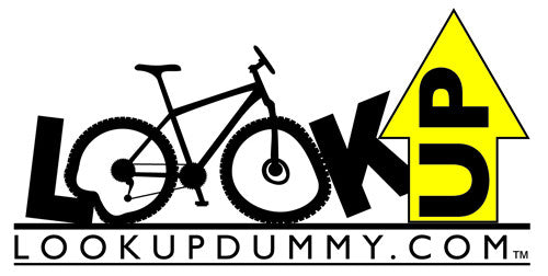 LOOK UP DUMMY LOGO Removable & Reusable Car Roof & Rear Bike Rack Reminder and Warning Vinyl Window Cling 3 X 5 Inches BOGO! FREE SHIPPING! LIFETIME GUARANTEE! - Look Up Dummy!™