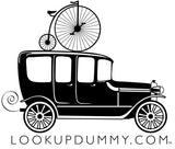 CLASSIC OLD BIKE AND CAR Removable and Reusable Vinyl Window Cling 4 X 4 Inches FREE SHIPPING! - Look Up Dummy!™