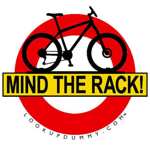 MIND THE RACK REVERSE IMAGE Removable and Reusable Vinyl Window Cling 5 X 5 Inches FREE SHIPPING!