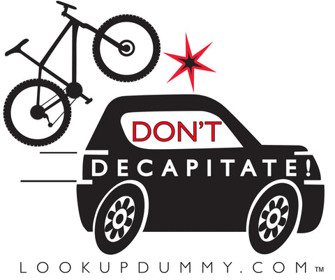 DON'T DECAPITATE Removable and Reusable Vinyl Window Cling 4 X 4 Inches FREE SHIPPING!