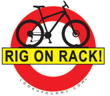 bike rack reminder warning sign bike roof rack bike rear rack car bike rack garaged  crash cyclist cycling