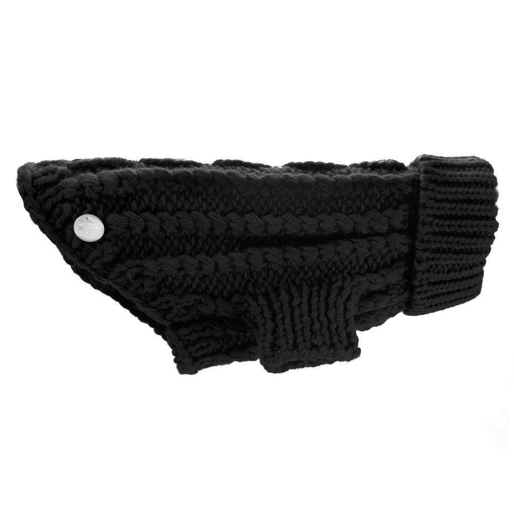 Modern Pups Black Sweater For Dogs by United Pups Side View