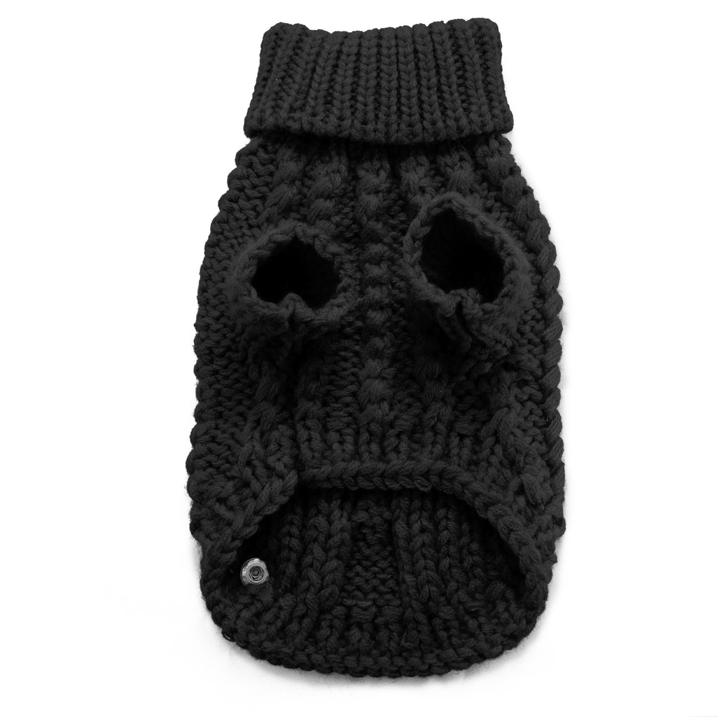 Modern Pups Black Sweater For Dogs by United Pups Bottom View