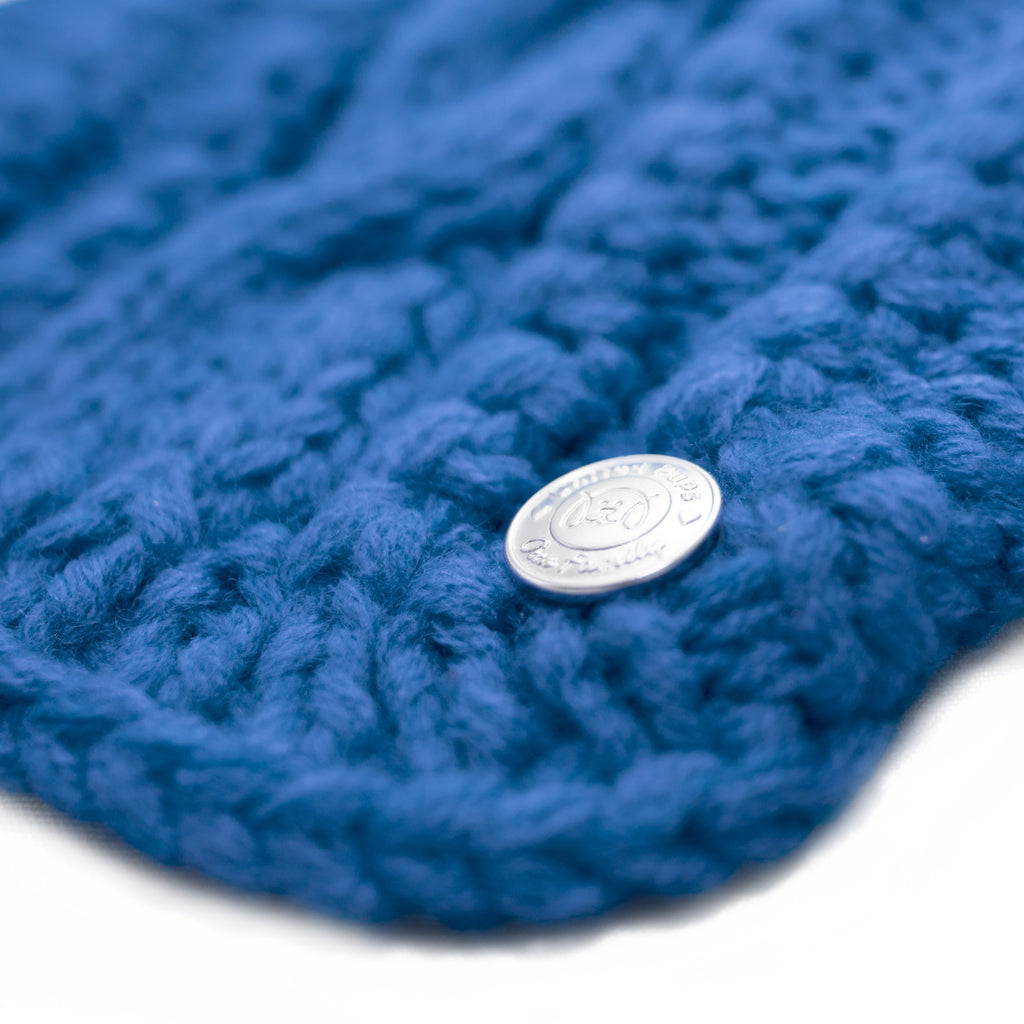 Blue Cable Knit Dog Sweater for Small Dogs Detailed View