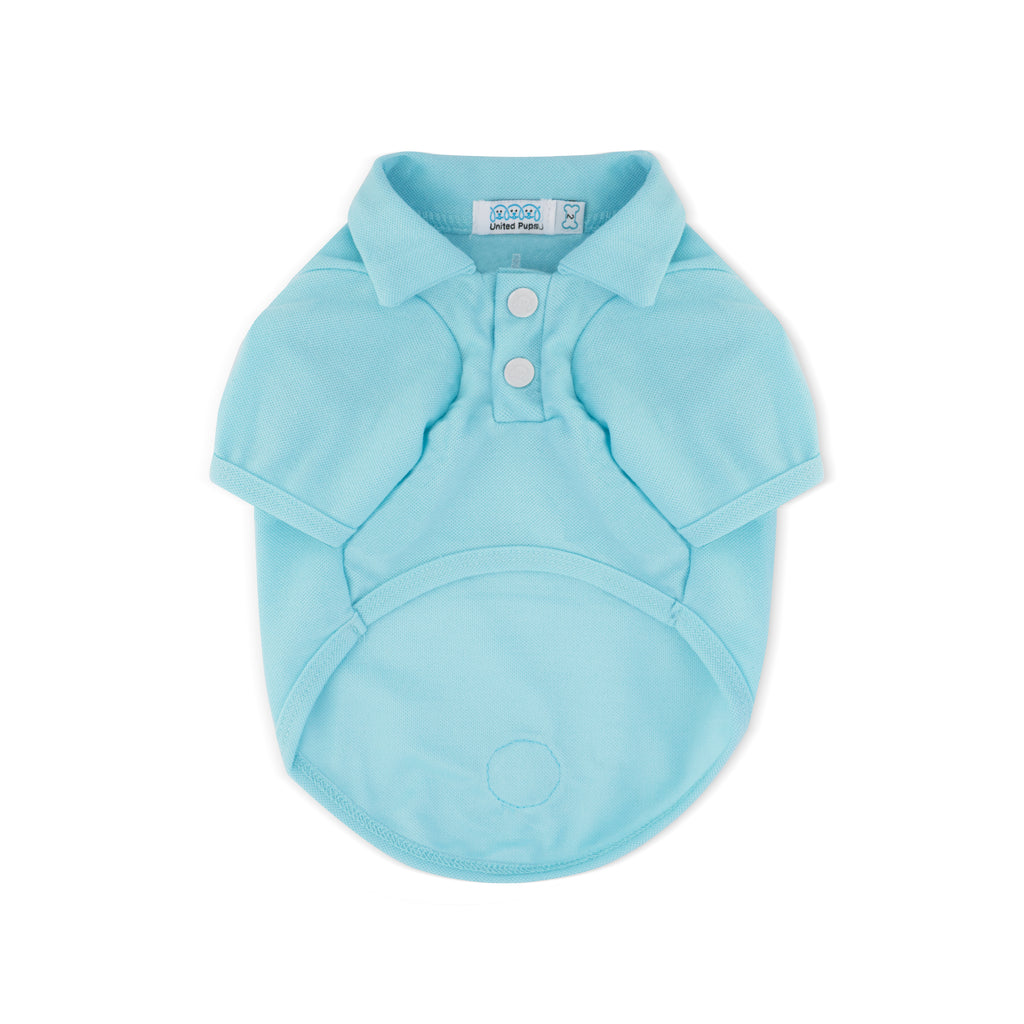 Chill Pups Blue Polo Shirt for Dogs from United Pups Front View