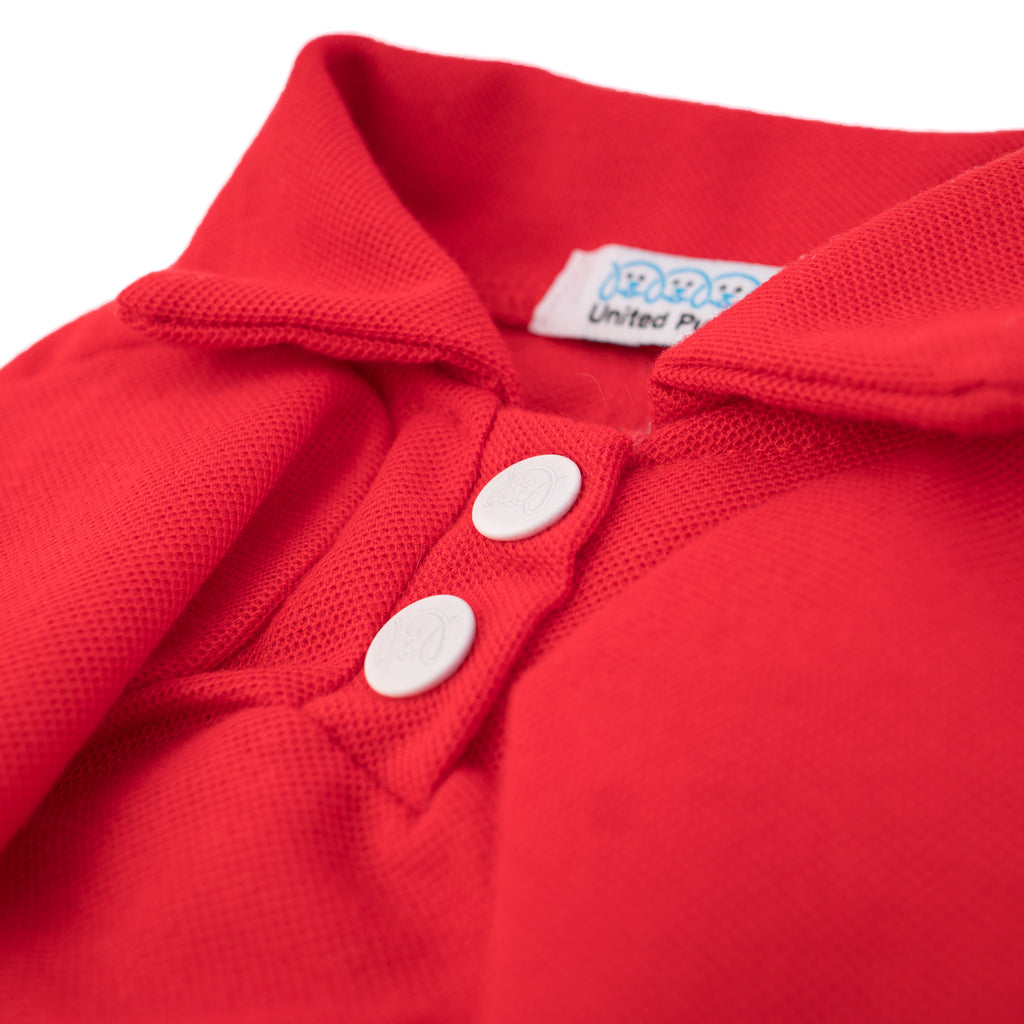 Cool Pups Red Polo Shirt for Dogs from United Pups Metal Snap Buttons