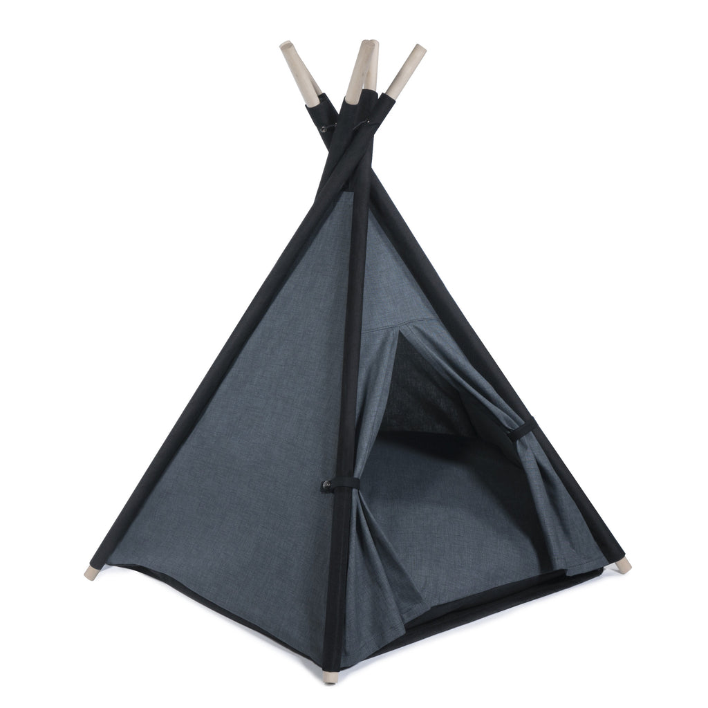 l Pups Gunmetal Gray and Black Teepee for Dogs by United Pups