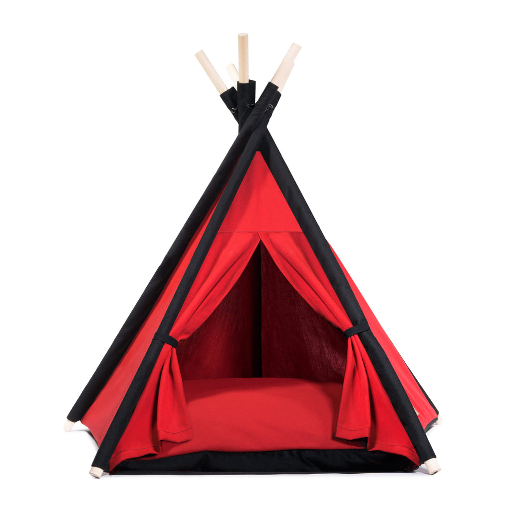 Cool Pups Designer Pet Teepee Tent with Matching Cushion Bed