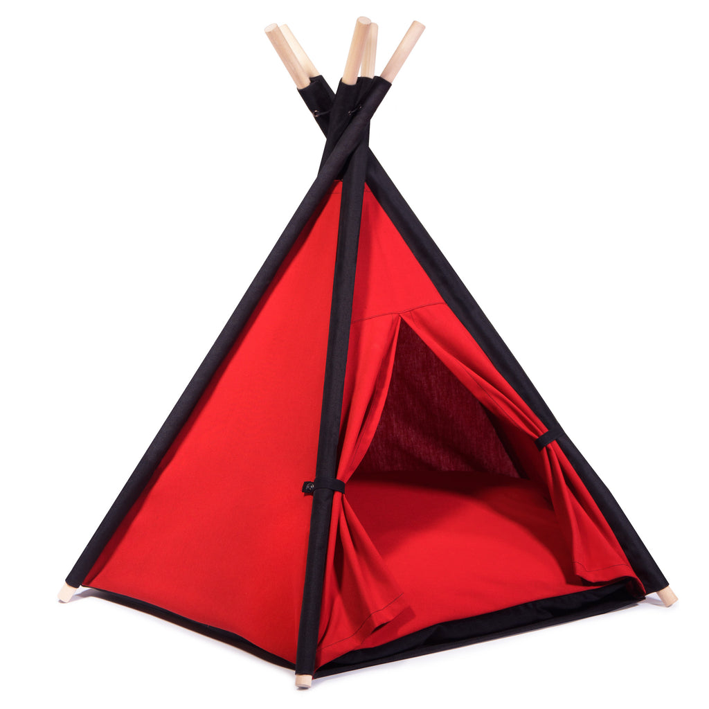 Cool Pups Red and Black Teepee for Dogs by United Pups