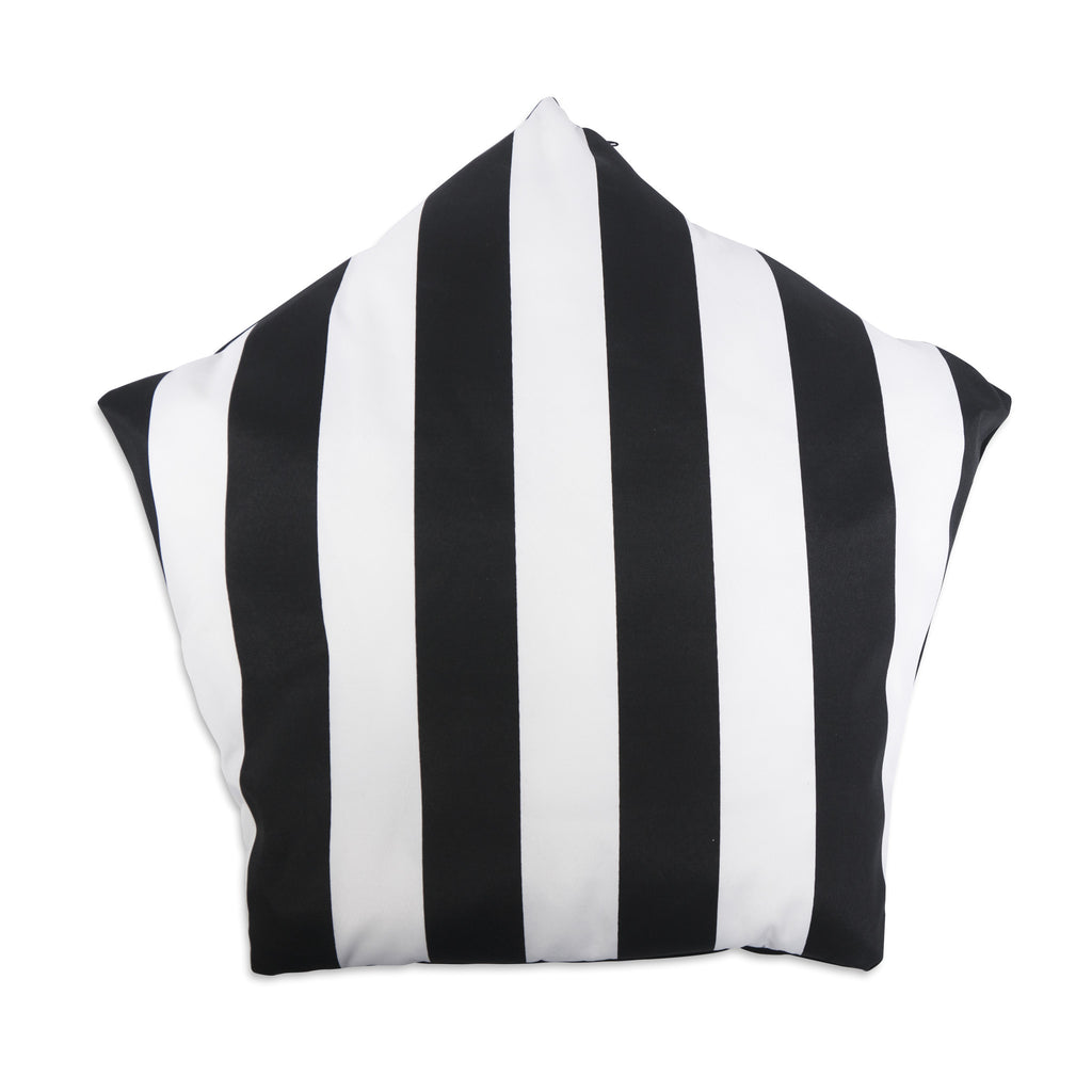 Cool Pups Black and White Stripe Teepee for Dogs by United Pups (Stripe side cushion)