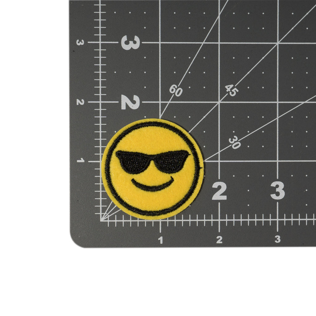 Cool Pups Iron-On Patches: Emoji Cool Glasses