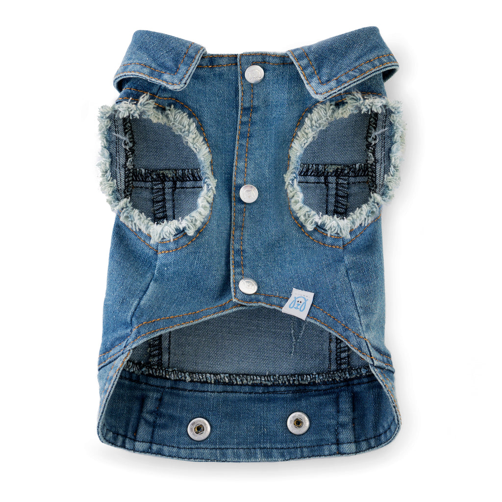 Chill Pups Classic Jean Vest for Puppies by United Pups