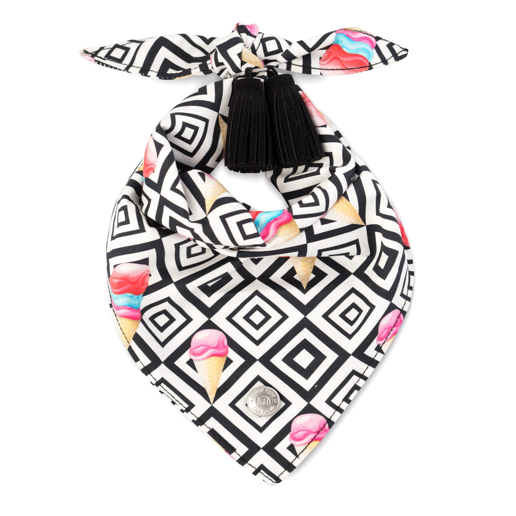 Modern Pups Ice Cream Bandana with Tassels for Dogs by United Pups