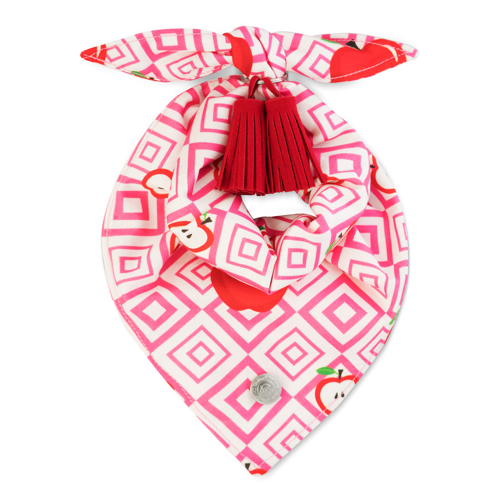 Cool Pups Red Apple Bandana with Tassels