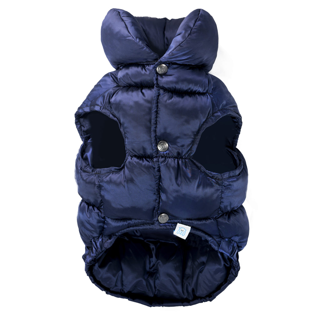 Chill Pups Bold Navy Puffer Jacket Vest