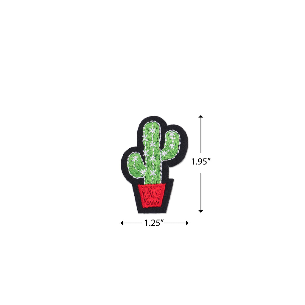 Cool Pups Iron-On Patches: Cute Cactus from United Pups
