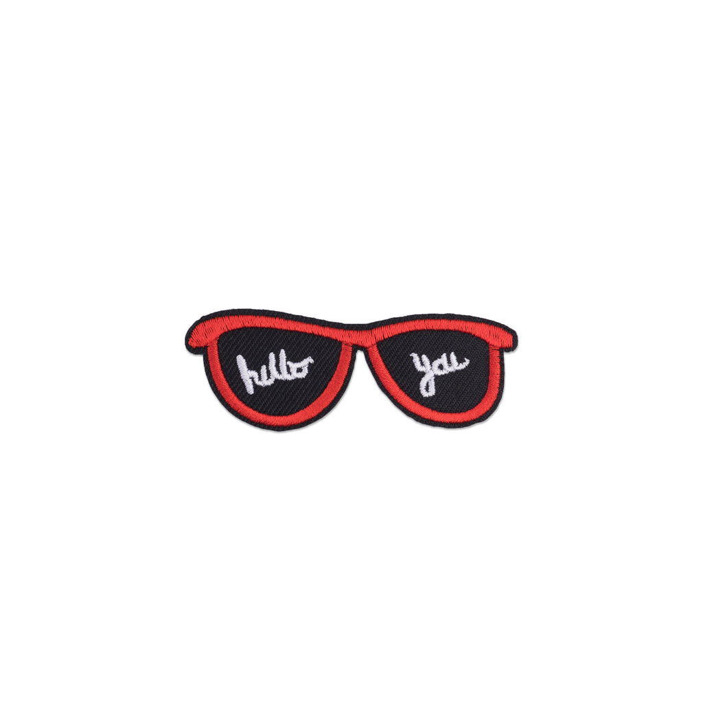 Cool Pups Iron-On Patches:  Sun Glasses Hello You! from United Pups