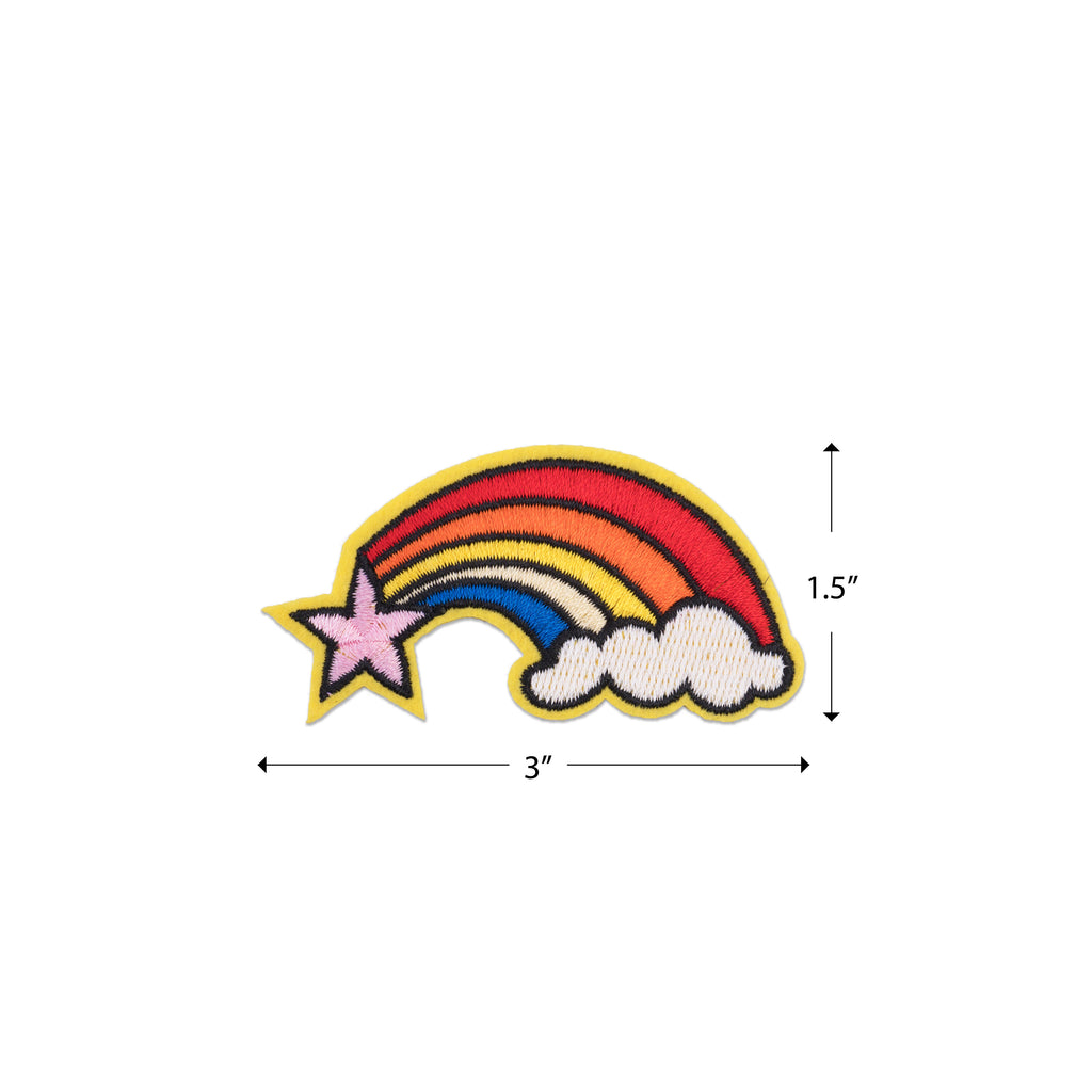 Cool Pups Iron-On Patches:  Star Rainbow Cloud from United Pups