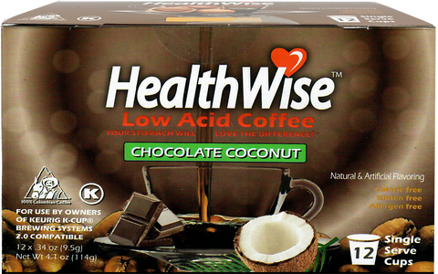 Chocolate Coconut Low Acid Keurig K-Cups - HealthWise Coffee
