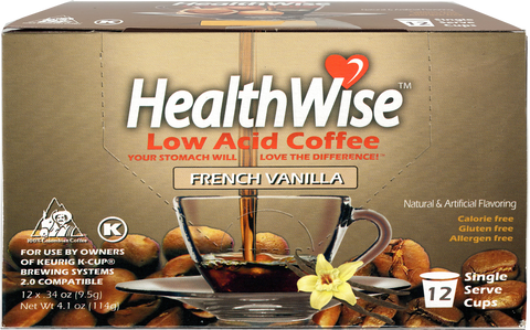 French Vanilla Low Acid Keurig K-Cups - HealthWise Coffee