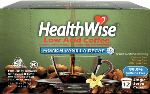 French Vanilla Low Acid Keurig K-Cups - Decaf - HealthWise Coffee