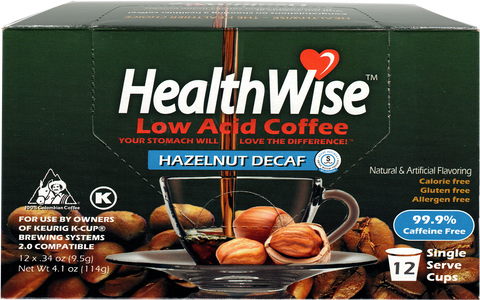 Hazelnut Low Acid Keurig K-Cups - Decaf - HealthWise Coffee