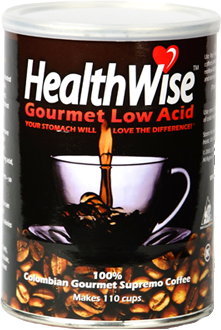 gourmet supremo regular low acid coffee can