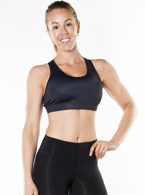 Medium-Impact Sports Bra- Black