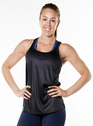 ShineFiT Womens Training Tank Black