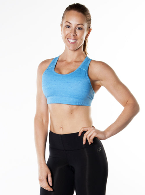 Medium-Impact Sports Bra- Blue