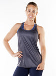 ShineFiT Womens Training Tank Charcoal