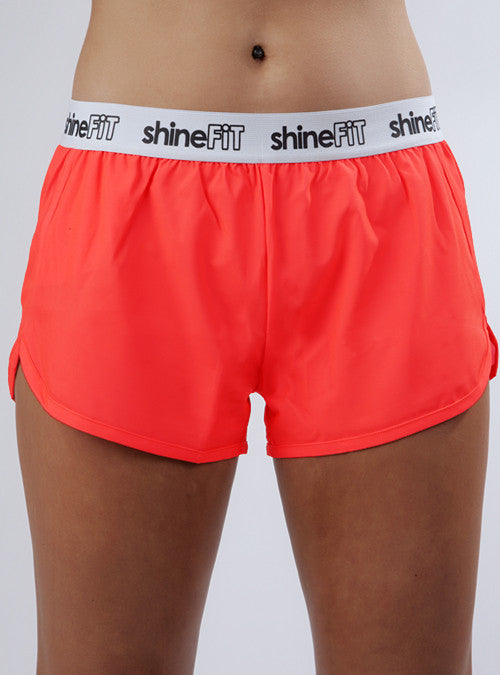Active Running Shorts - Coral
