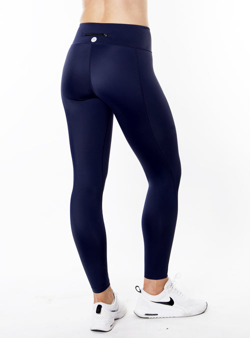 Navy Capri Training Tights