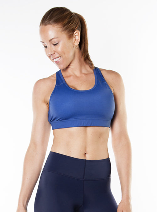 Medium-Impact Sports Bra- Navy