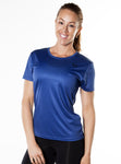 ShineFiT Womens Training Tee Blue