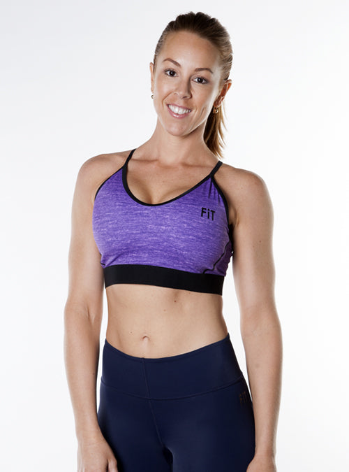 Low-Impact Racerback Sports Bra- Purple