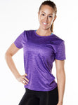 ShineFiT Womens Training Tee Purple