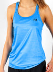 ShineFiT Womens Training Tank Blue