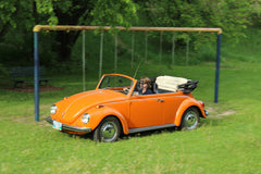 Das Stuff Blog - VIntage VW Lifestyle. Das Stuff owner Tamara Roehr in her 1972 Beetle Convertible