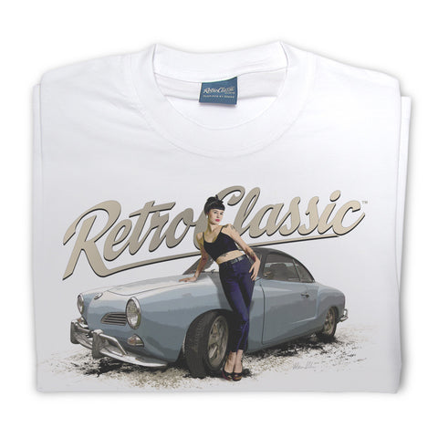 Mens RetroClassic Clothing T-Shirt - 1963 Karmann Ghia Coupe