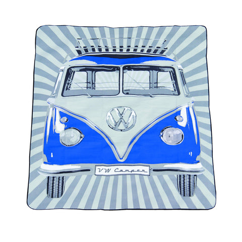 Das Stuff Picnic Blanket with vintage Volkswagen T1 Campervan graphic