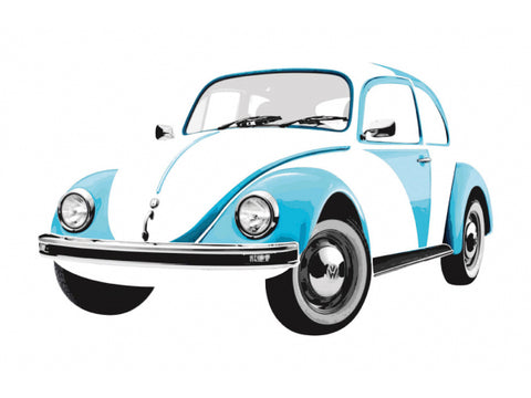 Das Stuff Classic VW Giant Wall Sticker, Blue Beetle