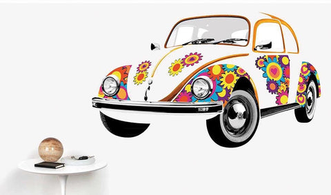 Das Stuff Classic VW Giant Wall Sticker, Hippie Beetle