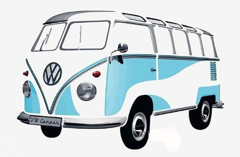 Das Stuff Classic VW Giant Wall Sticker, Blue