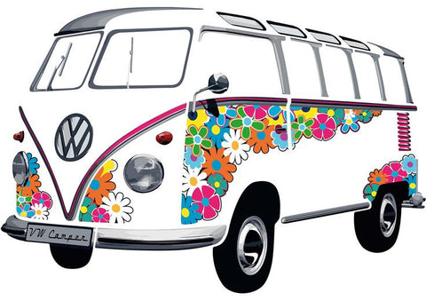 Das Stuff Classic VW Giant Wall Sticker, Hippie Van