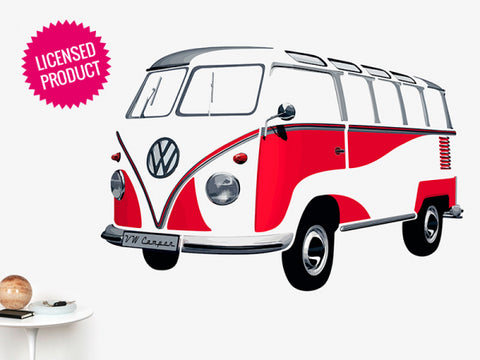 Das Stuff Classic VW Giant Wall Sticker, Red Bus