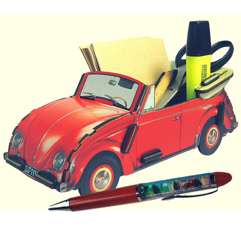 Father's Day Combo - VW Bug Desk Organizer and FREE VW Pen