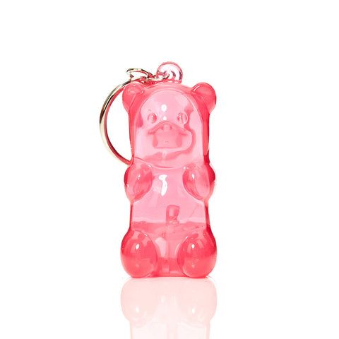 Gingerbread World and Gummy Bears - to eat or to enjoy. Key Chain in shape of Gummy Bear. Squeeze its tummy and it lights up